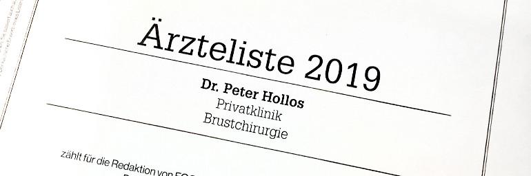 Dr. Hollos erneut TOP-Mediziner in Stuttgart